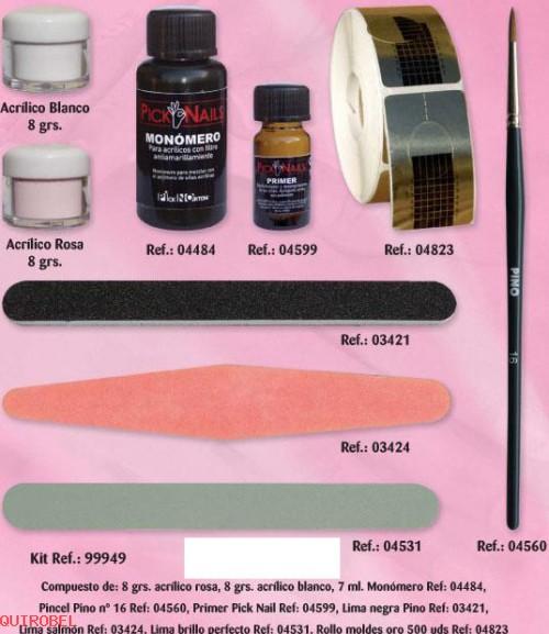 Kit Uñas Acrílicas Nails Mini Ref 00000 Manicura Y